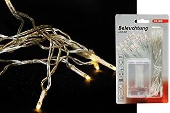 lichterkette mini 20 led batterie betrieben f r innen deko beleuchtung. Black Bedroom Furniture Sets. Home Design Ideas