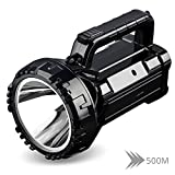 Wzlight Taschenlampe Wiederaufladbare Helle LED-Taschenlampe 20W High-Power-Suchscheinwerfer eingebaute 2800mAh Lithium-Batterie Zwei Arbeitsmodi