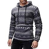 Kapuzenpullover Sunnyadrain Herren Hoodie Muster Gestreiften Plus Größe Schlank Geschäft Pullover Winter Warm Outwear Sweatshirt Top Langarm