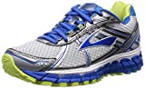Brooks Adrenaline GTS 15, Damen Laufschuhe, Grau (White/DazzlingBlue/SharpGreen), 40 EU (6.5 Damen UK)