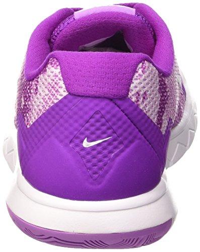 Nike Wmns Flex Experience Rn 4 Prem, Chaussures de Running Entrainement Femme, UK Morado / Blanc