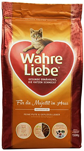 sale wahre liebe katzenfutter hauskatze 1er pack 1 x 15 kg packung. Black Bedroom Furniture Sets. Home Design Ideas