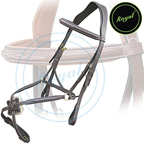 Royal Fancy Square Raised Mexican Adjustable Bridle