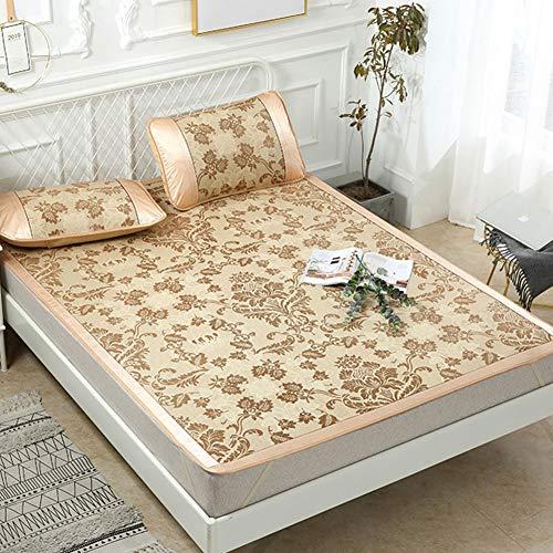 J Home textile Kühlung Sommer Bettwäsche Jacquard Tagesdecke, Kühlung Schlafsack Matratze Topper, Reversible Tröster Set Sommer Bettwäsche + Kissenbezüge -