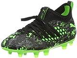 Puma Future 19.3 Netfit FG/AG Jr, Zapatillas de Fútbol Unisex Niños, Negro Black-Charcoal Gray-Green Gecko, 32 EU