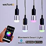 Bluetooth Smart LED Glühbirne, Dimmbare mehrfarbige RGB wechselnde Lampe smart home licht 6W E26 E27 basierte App Steuerung für Android und iOS, bunte Party Licht und Haus Dekoration [24 Monate Garantie] -WeFunix 600 [1 Pack]