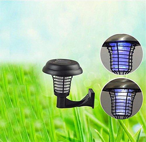 FNDU Solar Insekt Killer Lampe Indoor Outdoor Wireless Solar Power Mosquito Killer UV Lampe, Insekt Pest Bug Abschreckung Sensor Licht für Camping, Angeln oder Wandern - Abschreckung Ratte