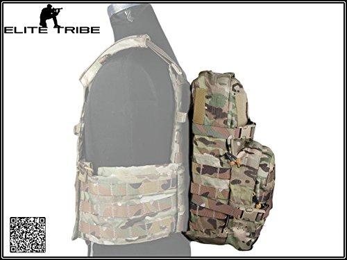 Paintball Camping Trekkingrucksäcke Taktisch Modular Assault Pack mit 3L Trinksack Hygiene Multicam MC (Paintball Rucksack)