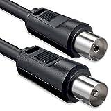1aTTack Koaxial Anschluss-Kabel 5m schwarz