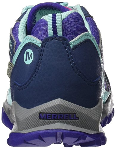 Merrell ml Capra Bolt Lace Waterproof, Chaussures de Randonnée Basses Fille Multicolore (Navy/Multi)