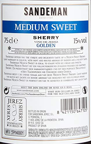 Sandeman Medium Sweet Sherry (1 x 0.75 l)