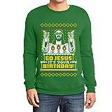 Hässlicher Weihnachtspullover Herren - Go Jesus It's Your Birthday Sweatshirt XX-Large Grün