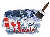 GRAZDesign 721214_57 Wandsticker Wandaufkleber Deko für Wohnzimmer Canada Flagge Berg Ahorn (82x57cm)