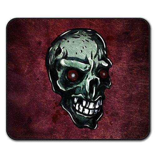 Zombie Auge Skelett Schädel Mouse Mat Pad, Zombie Rutschfeste Unterlage - Glatte Oberfläche, verbessertes Tracking, Gummibasis von Wellcoda