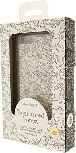 JOHANNA Basford: Enchanted Forest–Oficial iPhone 6DIY–Carcasa para colorear (Incluye 5inserciones) (iPhone 6/6S)