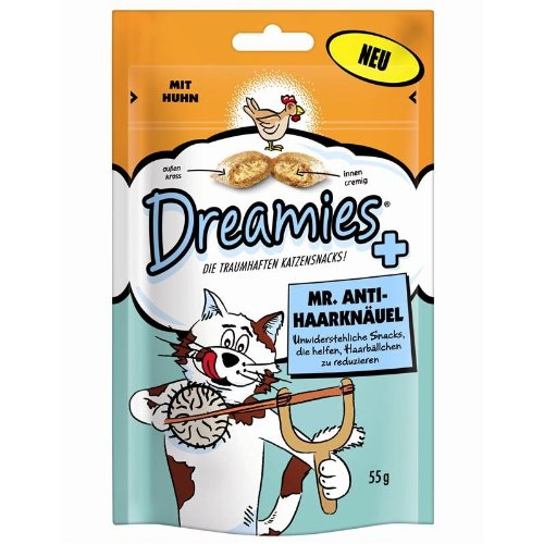 Dreamies Cat Anti-Haarknäuel (6 x 55g)