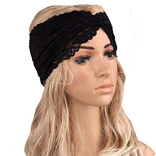 Haarbands,Sasstaids Frauen Headwear Twist Sport Yoga Spitze Stirnband Turban Kopftuch Wrap ()