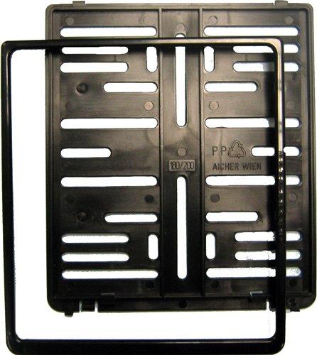 Kennzeichenhalter schwarz 180x200 (für neues Motorradkennzeichen)