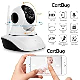 #5: CABLEGALLERY cctvwifi Camera for home Wireless Dome Pan/Tilt with 2-Way Audio | 720p HD Wi-Fi Security Surveillance System | Night Vision Support| 4x Digital Zoom IP01A WiFi Wireless HD IP Security Camera CCTV [Watch LIVE Demo] (supports upto 128 GB SD card) [Dual Antenna] (cctv camera) (cctv camera)