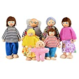 SODIAL(R) Happy Doll Family of 7 People