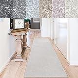 casa pura Teppich Läufer Sundae | Meterware | Teppichläufer für Wohnzimmer, Flur, Küche usw. | kuschlig weich | mit Stufenmatten kombinierbar (Creme - 80x350 cm)