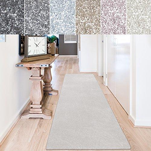 casa pura Teppich Läufer Sundae | Meterware | Teppichläufer für Wohnzimmer, Flur, Küche usw. | kuschlig weich | mit Stufenmatten kombinierbar (Creme - 66x100 cm)