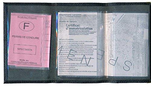 Custodia di protezione porta carte, documenti auto e patente, Noir Bretagne (nero) - cgrise-bretagne