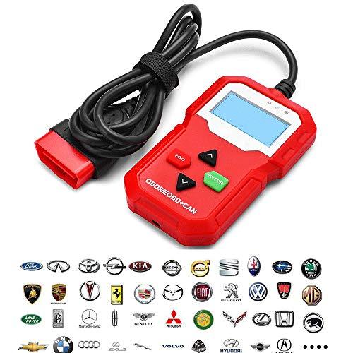 TERMALY OBD-Ii Diagnosewerkzeuge,Diagnose-Tester Diagnosescanner,Diagnosegerät Auto Diesel Und Benzin,Diagnosegerät Auto OBD,Online-Upgrade-System unterstützen und Fehlerdaten drucken,Red
