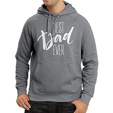 Kapuzenpullover Bester Vati überhaupt glücklicher Vatertag oder Geburtstagsgeschenk für Ehemann (Large Graphit Mehrfarben)