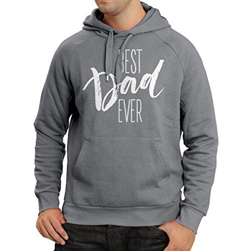 Felpa con cappuccio Miglior papà mai - regalo per il marito, felici giorno dei padri Grafite Multicolore