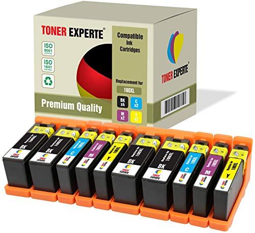 10 XL TONER EXPERTE® 100XL 100 XL Druckerpatronen kompatibel für Lexmark S300 S305 S402 S405 S505 S602 S605 S608 S815 S816 Pro 202 205 208 209 705 805 901 905 (4 Schwarz, 2 Cyan, 2 Magenta, 2 Gelb) -