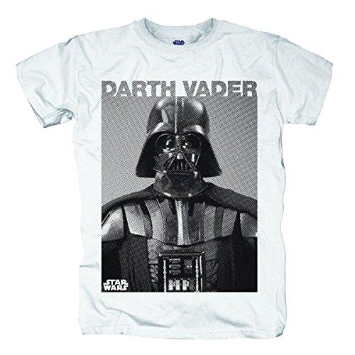 Bravado Herren T-Shirt Star Wars - Darth Vader Photo, Gr. Medium, Weiß (Weiß 002)