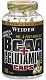 Weider BCAA + Glutamin 180 Kapseln, 1er Pack (1 x 255 g)