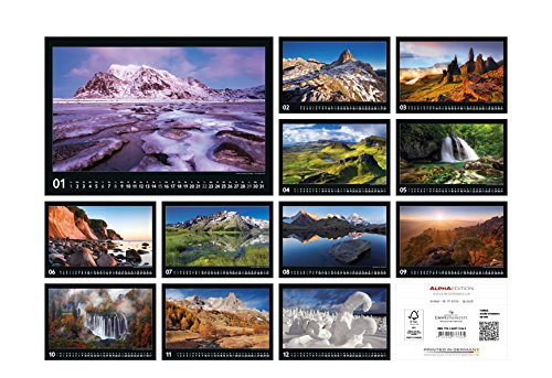 Livres Couvertures de Naturlandschaften Europas 2017 - Bildkalender quer (50 x 34) - Landschaftskalender - by Tobias Richter