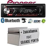 FIAT Grande Punto 199 - Autoradio Radio Pioneer DEH-S3000BT - Bluetooth   CD   MP3   USB   Android Einbauzubehör - Einbauset