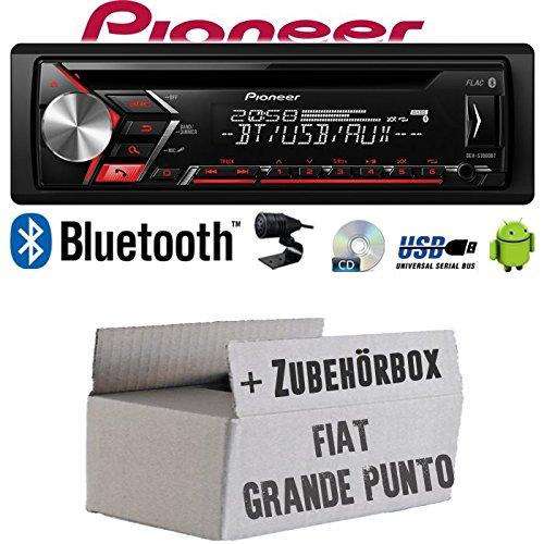 Autoradio Radio Pioneer DEH-S3000BT - Bluetooth   CD   MP3   USB   Android Einbauzubehör - Einbauset für FIAT Grande Punto 199 - JUST SOUND best choice for caraudio