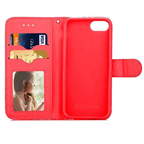 iPhone Case Cover IPhone 7 diamant motif de motif en treillis, étui en cuir PU TPU couverture souple avec étui à main portefeuille portefeuille pour IPhone 7 ( Color : 1 , Size : Iphone 7 ) 4