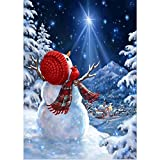 Amphia - Weihnachtsmann,Schneemann Serie Diamond Malerei,5D Stickerei Gemälde Strass DIY Diamant Malerei Kreuzstich(40 * 30cm)