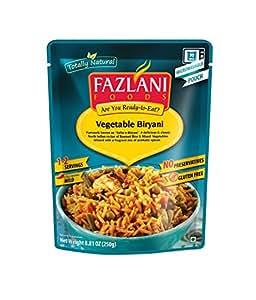 FAZLANI FOODS Ready to Eat Subz-e-Biryani (Mixed Vegetable Basmati Rice) 250 g