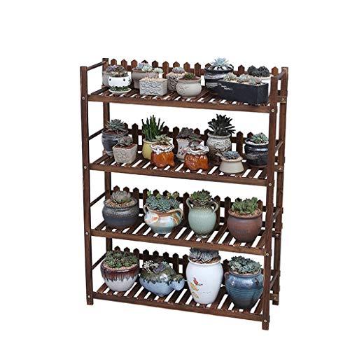 Pflanze Stand Blume Topf Gestell Bonsai Regal Hölzern Platzsparend Rostfrei im Leben Zimmer Schlafzimmer Balkon 4 Schichten