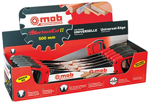 MOB Outillage 6349501001 Jeu de 10 Scies égoïnes universelles pro 7 dents 500 mm