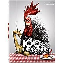 100 Illustrators - Edición trilingüe español, italiano, portugués (Bibliotheca Universalis)