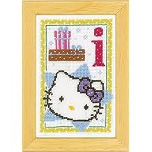 Vervaco - Kit para cuadro de punto de cruz, diseño de Hello Kitty con la