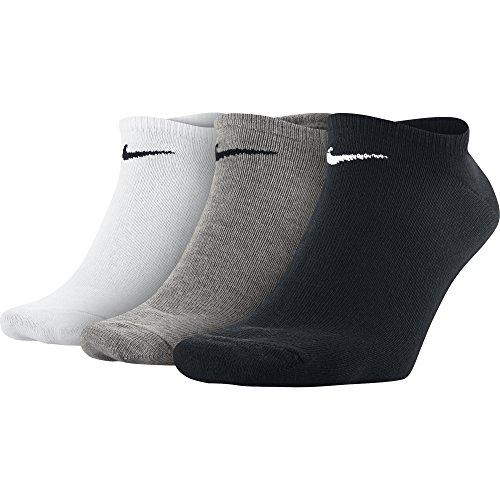 Nike 3PPK VALUE NO SHOW (S,M,L,XL) - Calzini da Unisex, Colore Rosso (multi-color), Taglia L