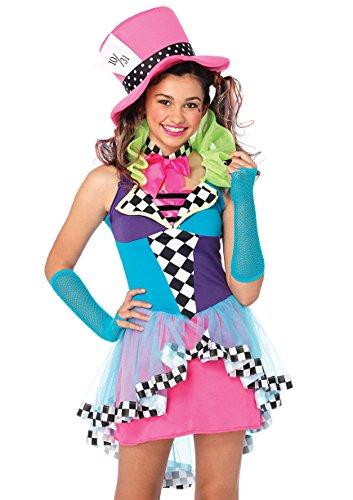 LEG AVENUE J49102 - Mayhem Hatter Kostüm Set, 3-teilig, Größe S/M, multicolor