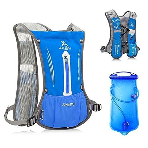 Sac à Dos d'Hydratation avec Poche à Eau 1.5L DeFe Respirant Ultraléger Vélo Sport d