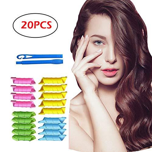 FIGHTART 18 PCS Magic Frisur Bendy Haar Lockenwickler Spiral Curls DIY Werkzeug,Verletze die Haare nicht