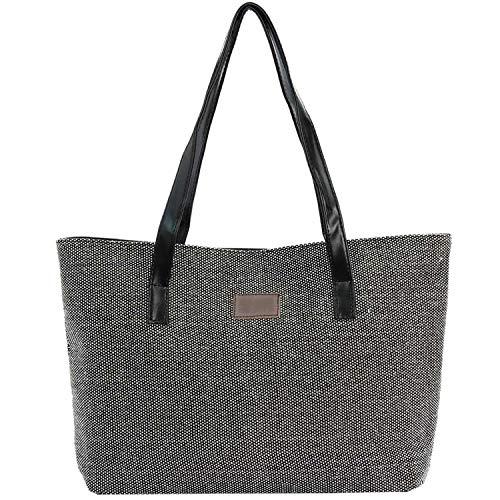 LIAN Store Damen College-Tasche aus Leinen, Windmotiv, A4 - Größe: Einheitsgröße