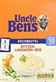 UncleBen's Spitzen-Langkorn-Reis 10-Minuten Kochbeutel, 3er Pack  (3x 1kg)