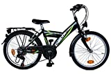 Kinderfahrrad 20 Zoll DELTA Fahrrad 6 Gang Shimano Schaltung StVZO tauglich schwarz gr n